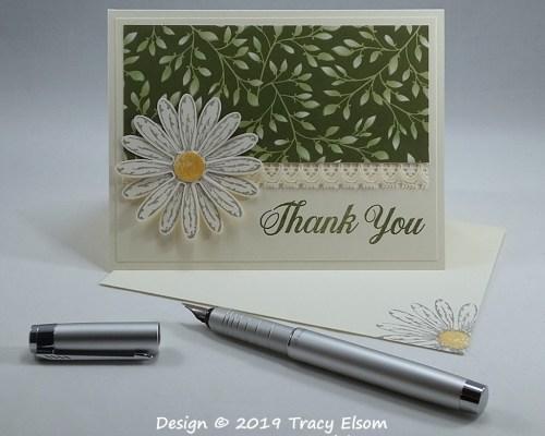 1708 Daisy Thank You Card