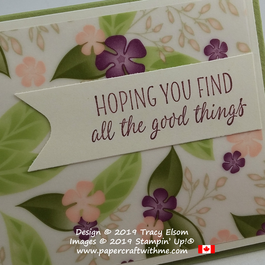 'Hoping you find all the good things' in the All The Good Things Stamp Set from Stampin' Up! has to be the best giftcard sentiment ever.