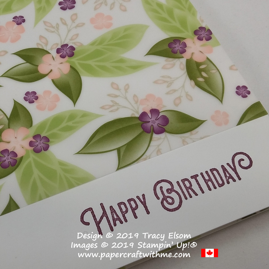 "Close up of printed vellum from the Floral Romance 12""x12"" Specialty Designer Series Paper from Stampin' Up!"