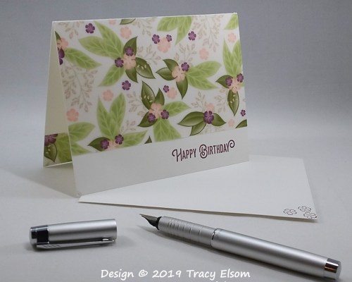 1732 Floral Vellum Birthday Card
