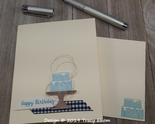 1734 Blue Birthday Cake Card