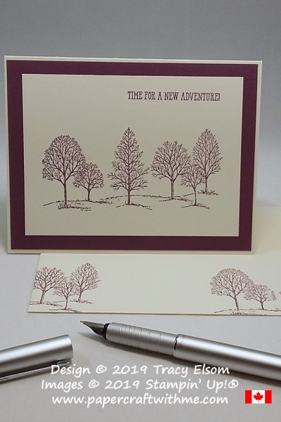 Time for a new adventure card created using the Lovely As A Tree and Well Said Stamp Sets from Stampin' Up! #simplestamping