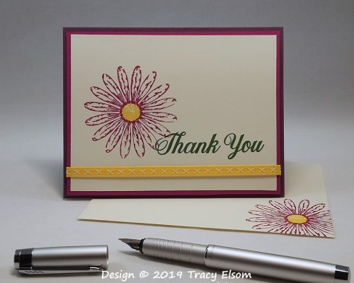 1743 Gerbera Thank You Card
