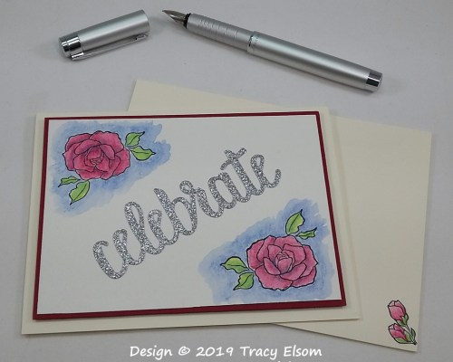 1751 Celebrate With Roses Card