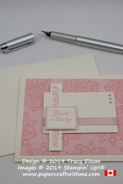 Simple card with 'You're a Blessing' sentiment created using the Very Vintage (Host) Stamp Set from Stampin' Up! #simplestamping