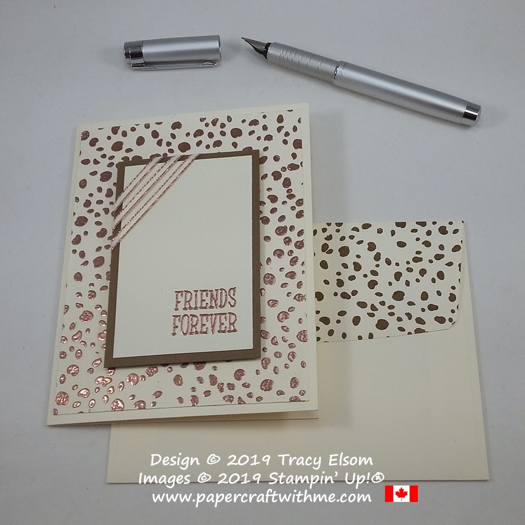 Copper animal print Friends Forever card created using the Happy Tails Stamp Set from Stampin' Up!