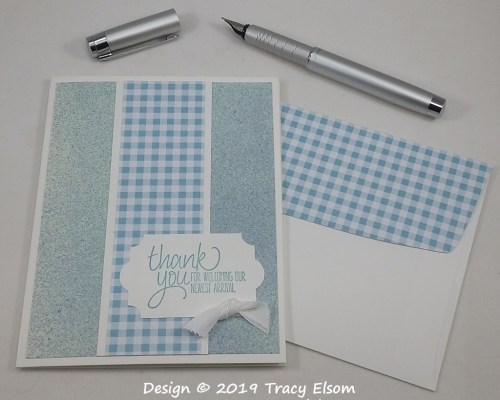 1755 New Arrival Thank You Card