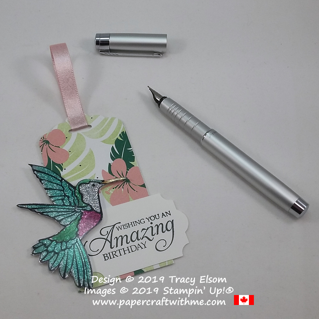 Large gift tag with amazing birthday sentiment and hummingbird from the Humming Along Stamp Set by Stampin' Up!