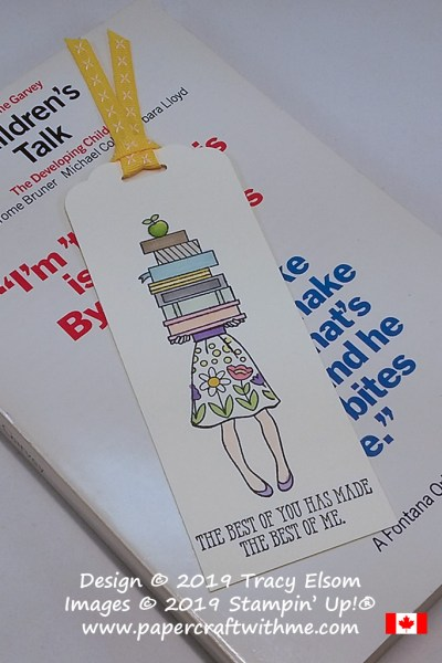 Teacher appreciation bookmark with 'The best of you has made the best of me' sentiment from the Well Said Stamp Set from Stampin' Up!
