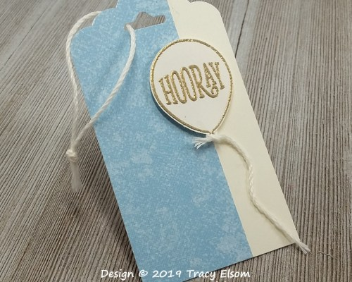 Hooray Balloon Gift Tag