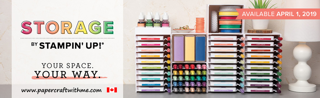 Modular storage from Stampin' Up! for all your new-style ink pads, refills, markers and so much more.