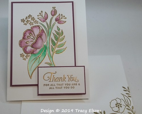 1685 Gold Embossed Thank You Card