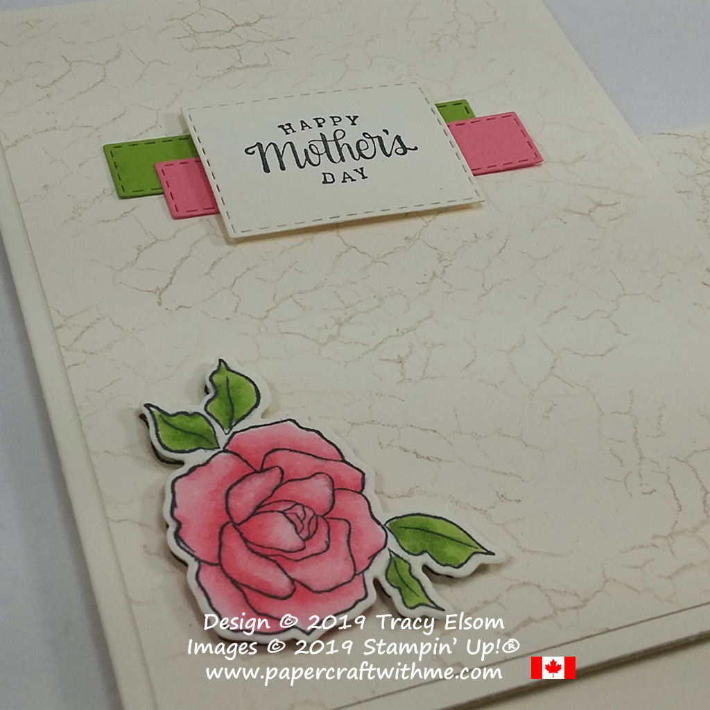 Close up of Mother's Day card created using the Tea Together Stamp Set and coordinating Tea Time Dies from Stampin' Up!