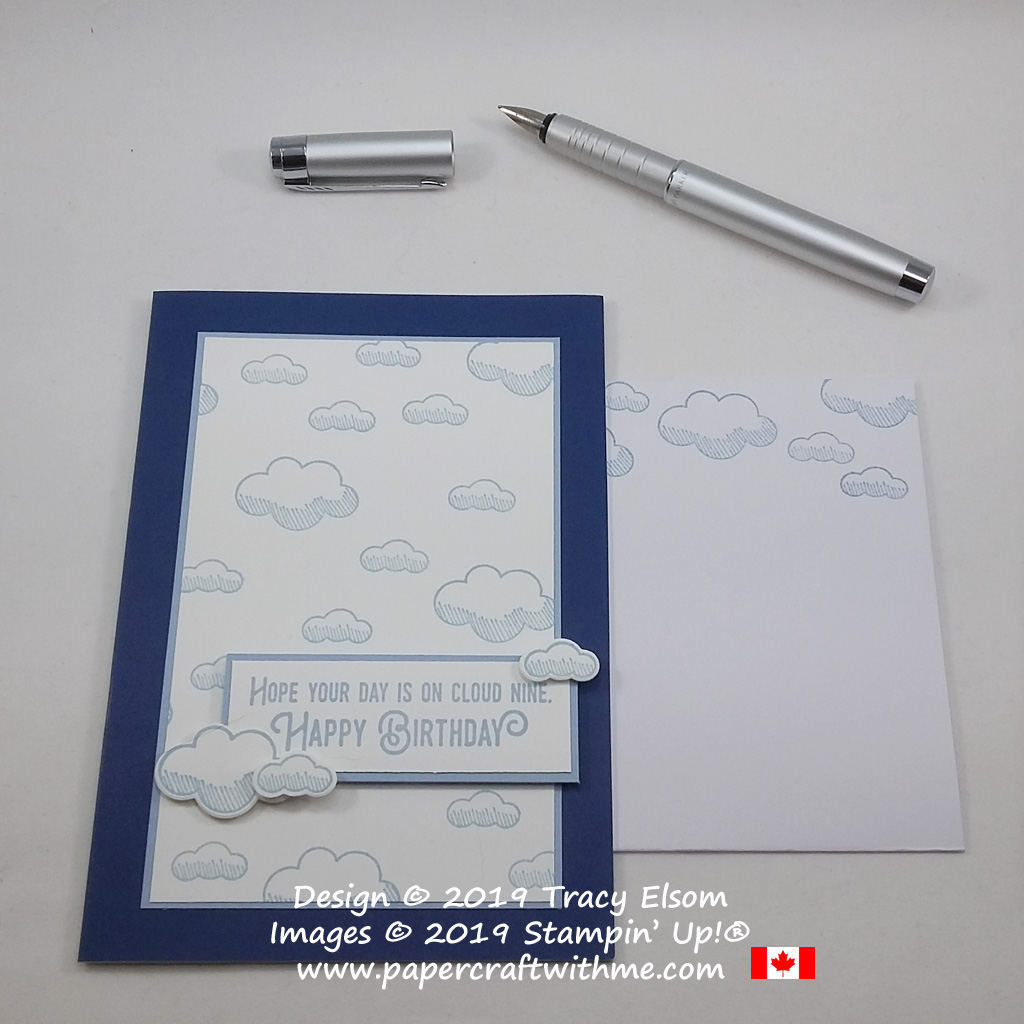 Cloud themed birthday card created using the Lift Me Up Stamp Set and Up & Away Thinlits Dies from Stampin' Up!