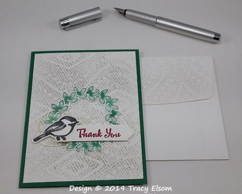 1766 Chickadee Thank You Card