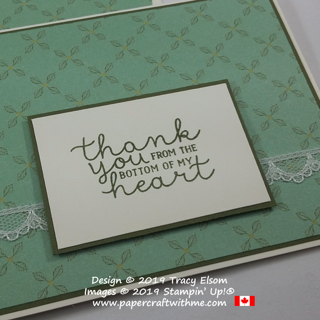 Close up of thank you card with a sentiment from the Bloom & Grow Stamp Set from Stampin' Up!