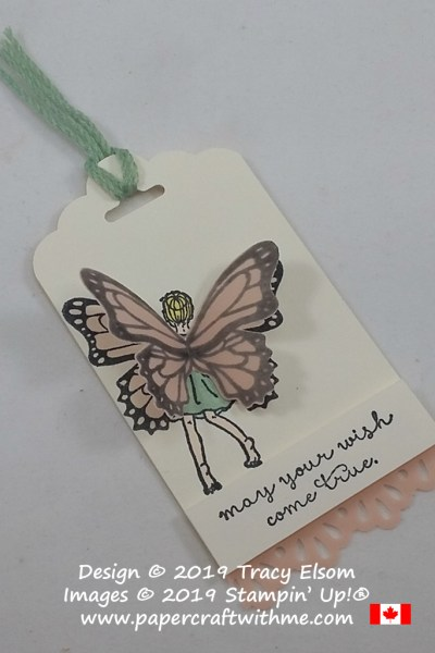 Gift tag created using the Fairy Celebration and Butterfly Gala Stamp Sets from Stampin' Up!