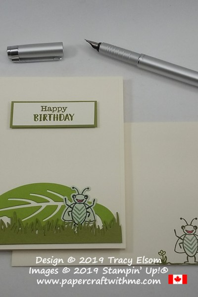 Cute children's birthday card created using the Wiggle Worm Stamp Set and coordinating Wiggly Bugs Dies from Stampin' Up!