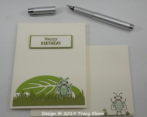 1790 Bug Birthday Card