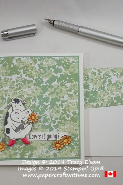 "Fun card with ""cow's it going"" sentiment and images from the Over The Moon Stamp Set from Stampin' Up!"