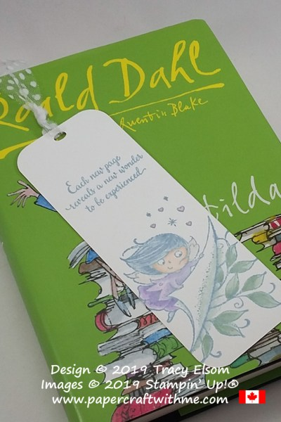 Pastel book fairy bookmark created using the New Wonders (host) Stamp Set from Stampin' Up!