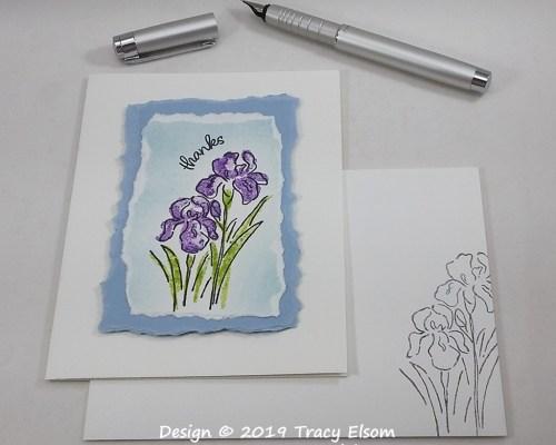 1816 Inspiring Iris Thanks Card