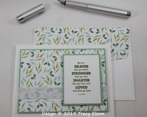 1823 Braver Stronger Smarter Loved Card
