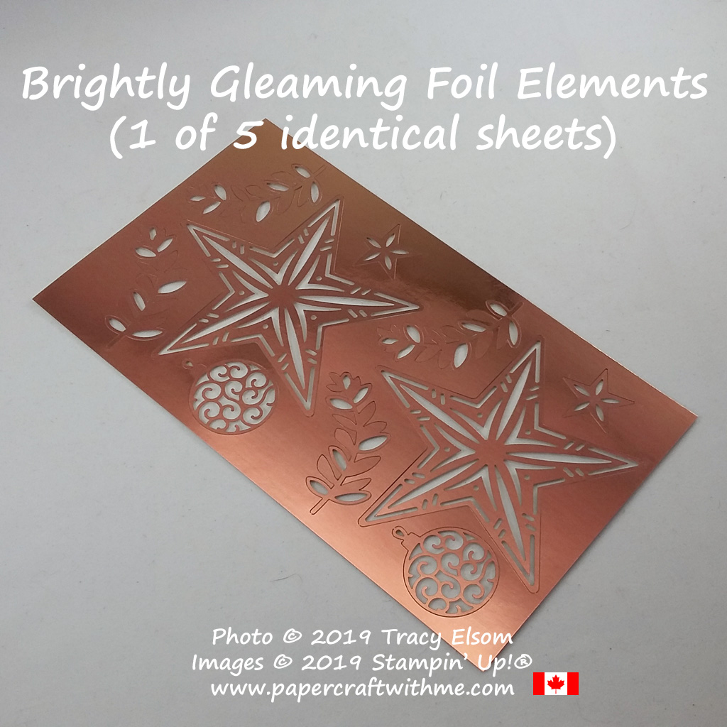 Brightly Gleaming Foil Elements from Stampin' Up! #papercraftwitme