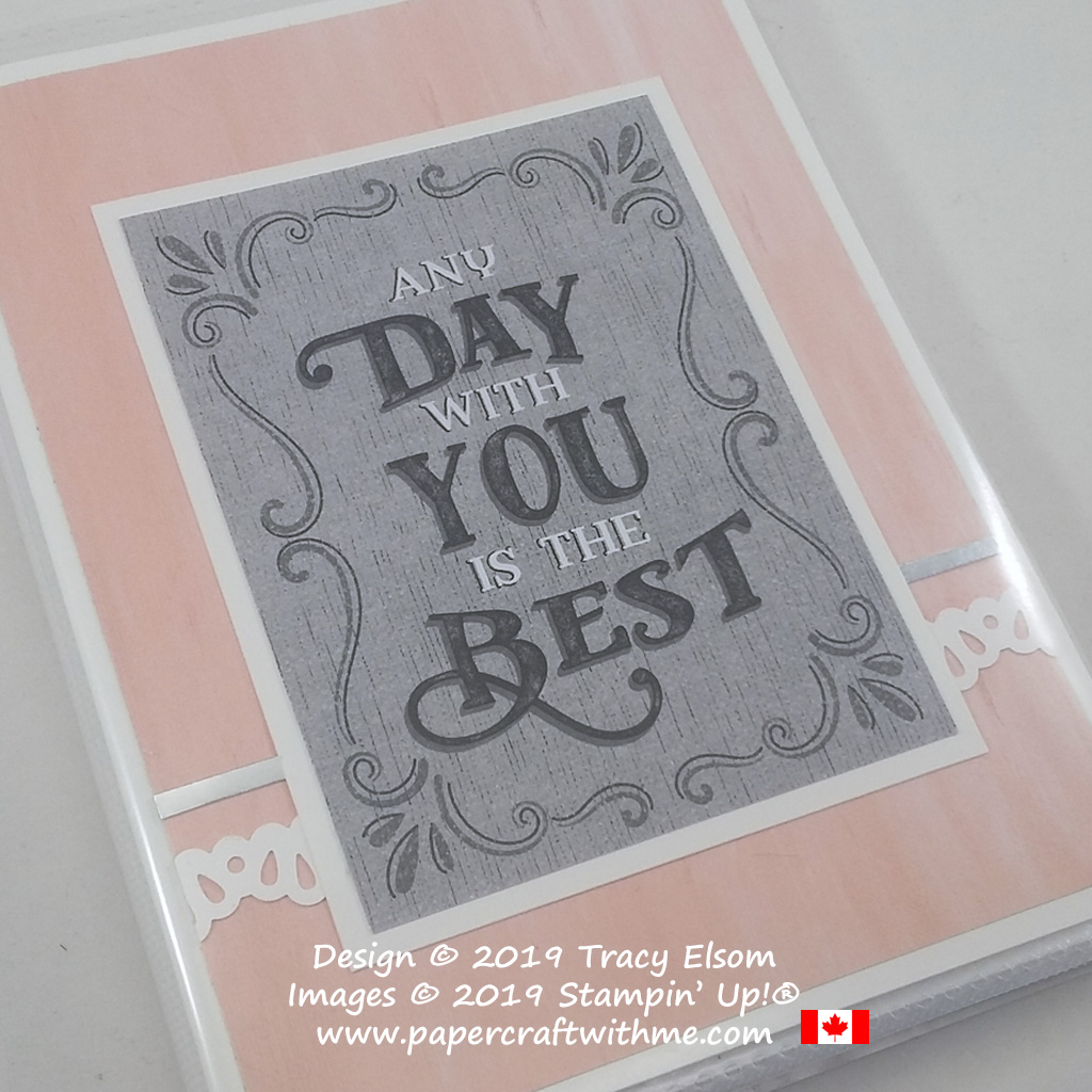 "Simple 4"" x 6"" pocket photo album with ""Any day with you is the best"" title from the Come Sail Away Memories & More Card Pack from Stampin' Up!"