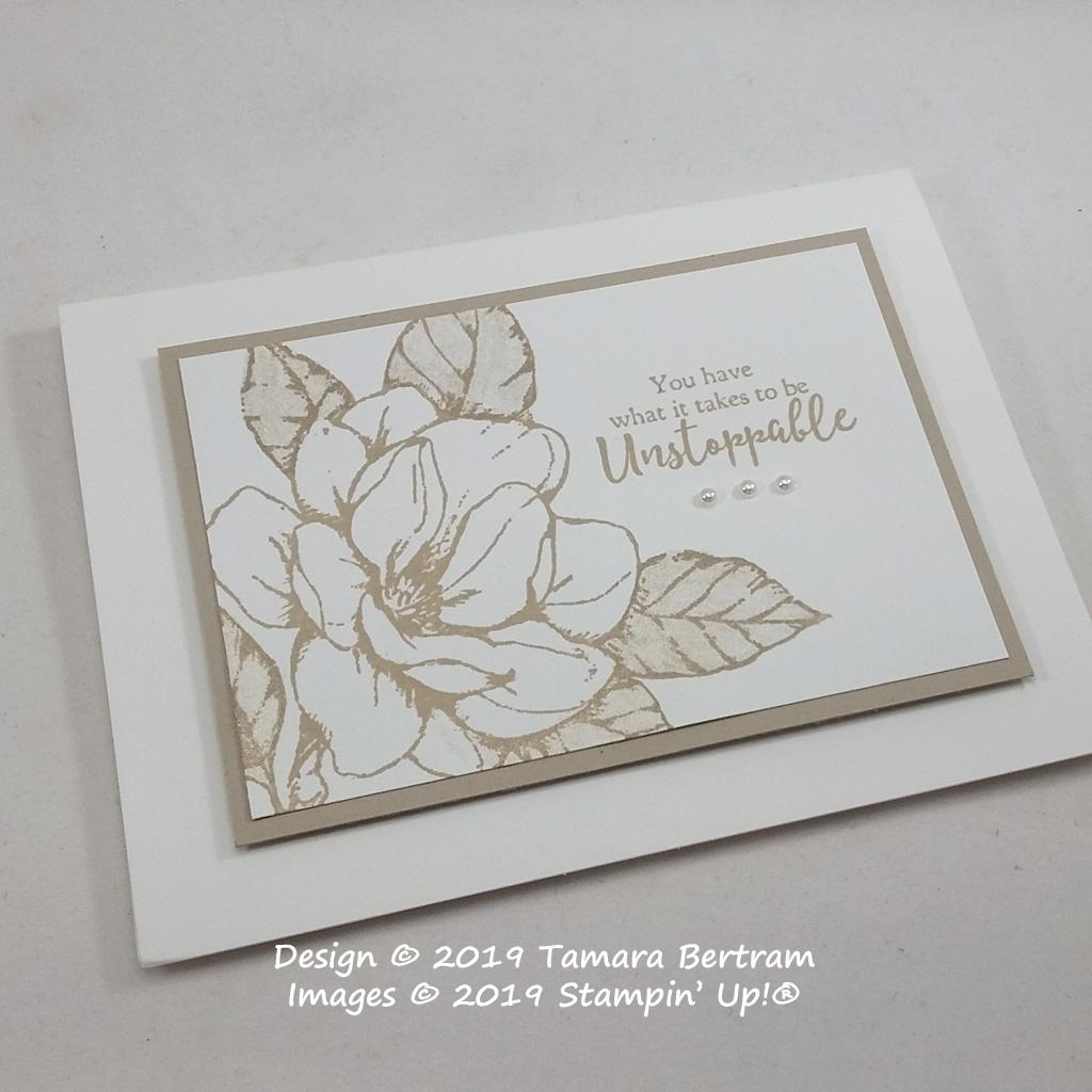 Card designed by Tamara Bertram using the Good Morning Magnolia stamp Set from Stampin' Up!