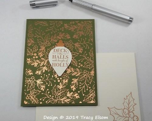 1833 Deck The Halls Card