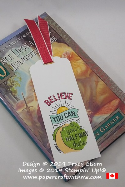 """Believe you can and you're halfway there"" bookmark created using the Believe You Can (host) Stamp Set from Stampin' Up! #papercraftwithme"