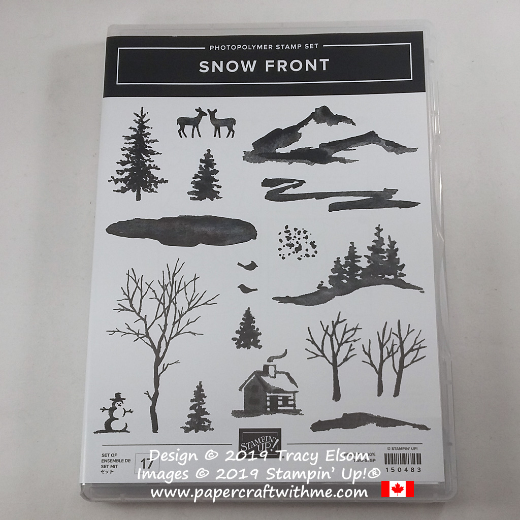 Snow Front Stamp Set from the Stampin' Up! 2019 Holiday Catalogue #papercraftwithme