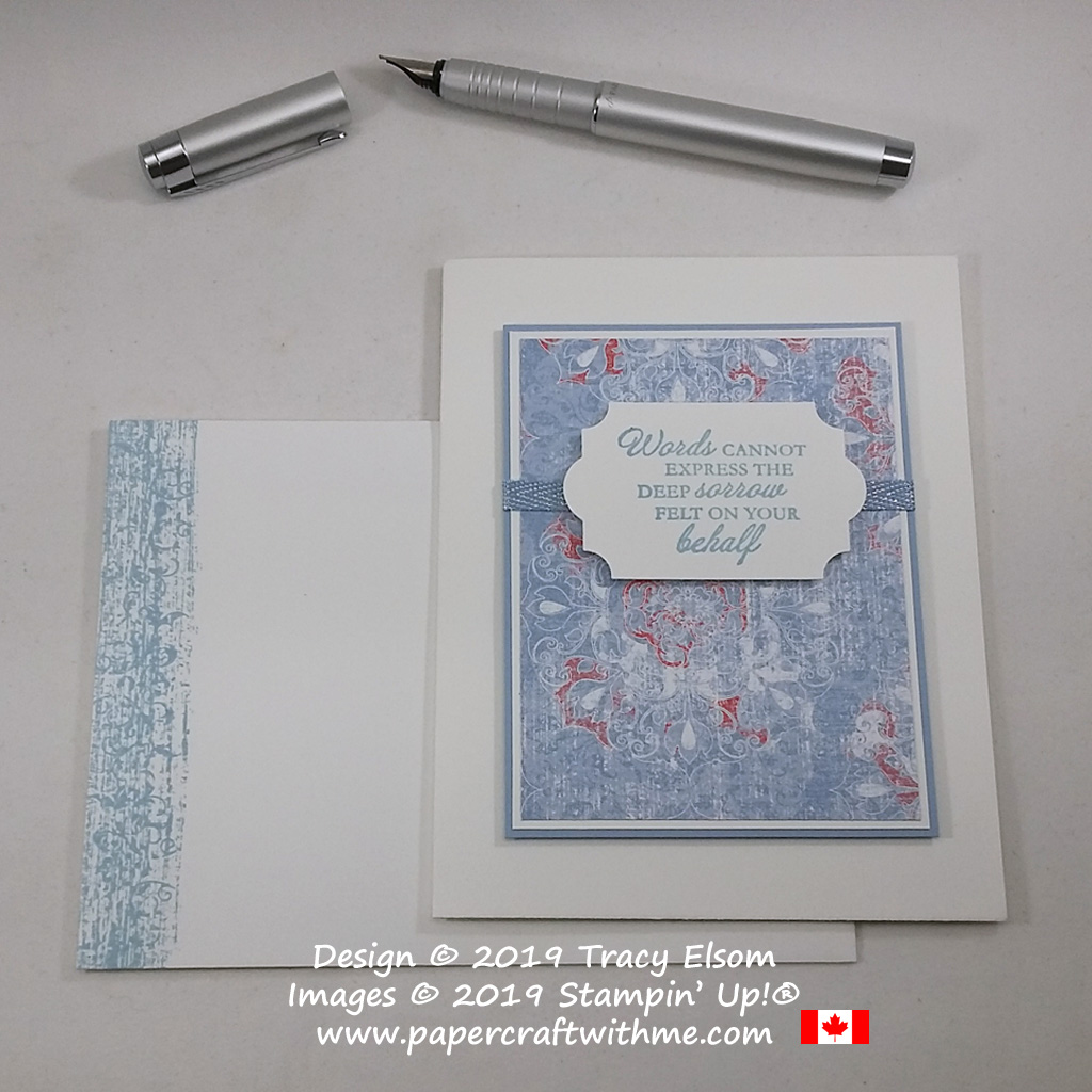 "Sympathy card with ""Words cannot express the deep sorrow felt on your behalf"" sentiment from the Here's A Card Stamp Set from Stampin' Up! #papercraftwithme"