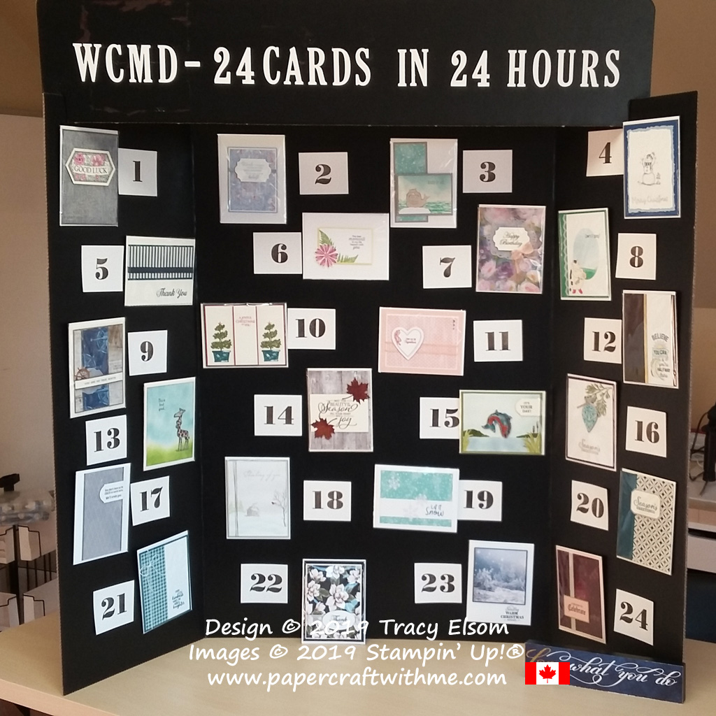 WCMD challenge completed - 24 different cards in 24 hours. #papercraftwithme