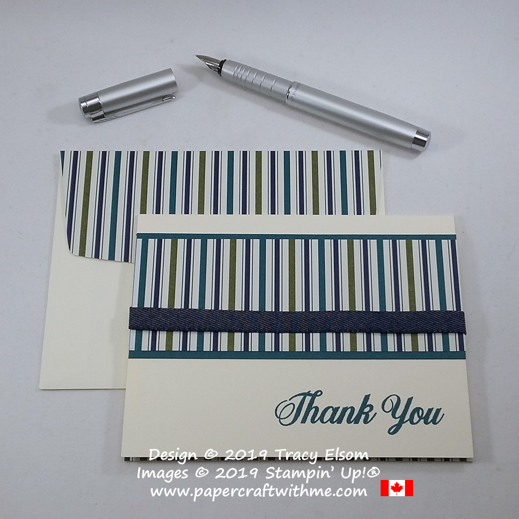 Simple thank you card created using the Daisy Delight Stamp Set from Stampin' Up! #papercraftwithme