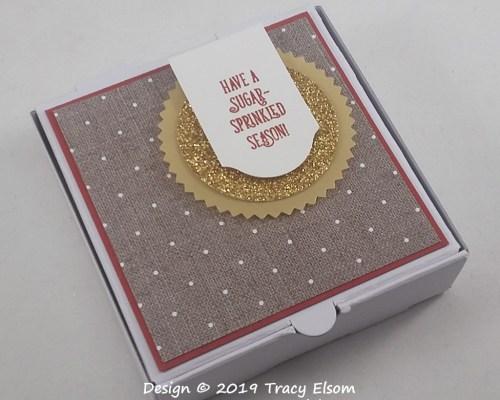BB56 Sugar-Sprinkled Pizza Box