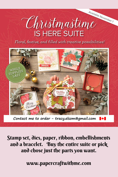 Buy the beautiful Christmastime Is Here suite from Stampin' Up! while stocks last. #papercraftwithme