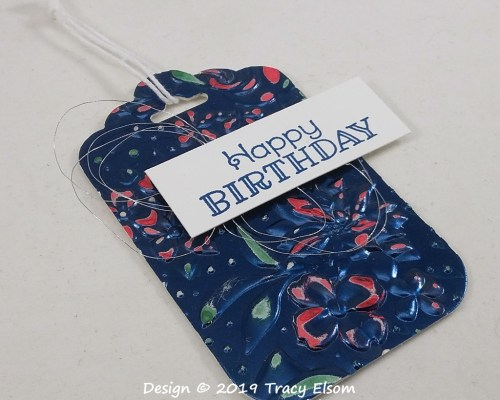 Distressed Foil Birthday Tag