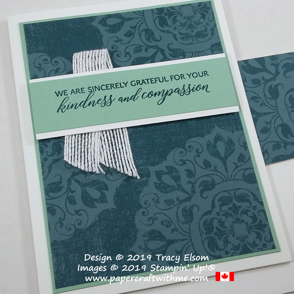 """We are sincerely grateful for your kindness and compassion"" is the sentiment on this simple card created using the Kindness & Compassion Stamp Set from Stampin' Up! #papercraftwithme #simplestamping"