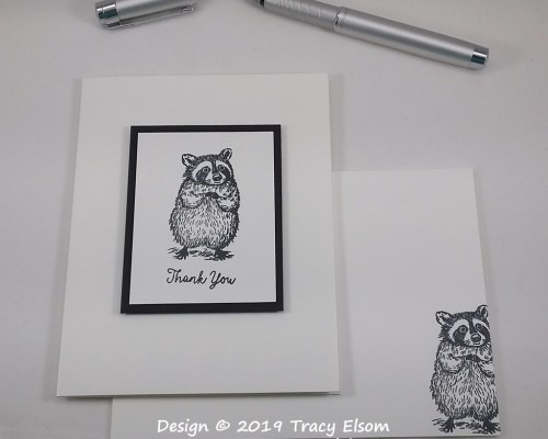 1900 Raccoon Thank You Card