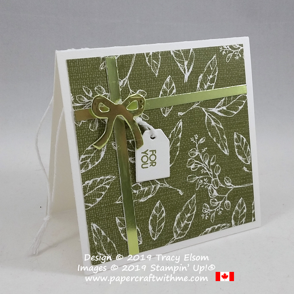 Gift gift tag created using the Beautiful Bouquet Stamp Set and Bouquet Bunch Dies from Stampin' Up! #papercraftwithme