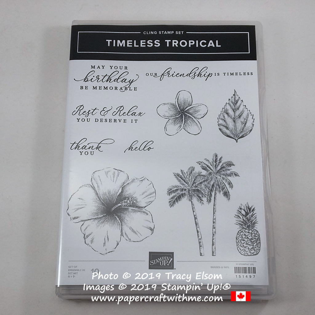 Timeless Tropical Stamp Set from Stampin' Up! #papercraftwithme