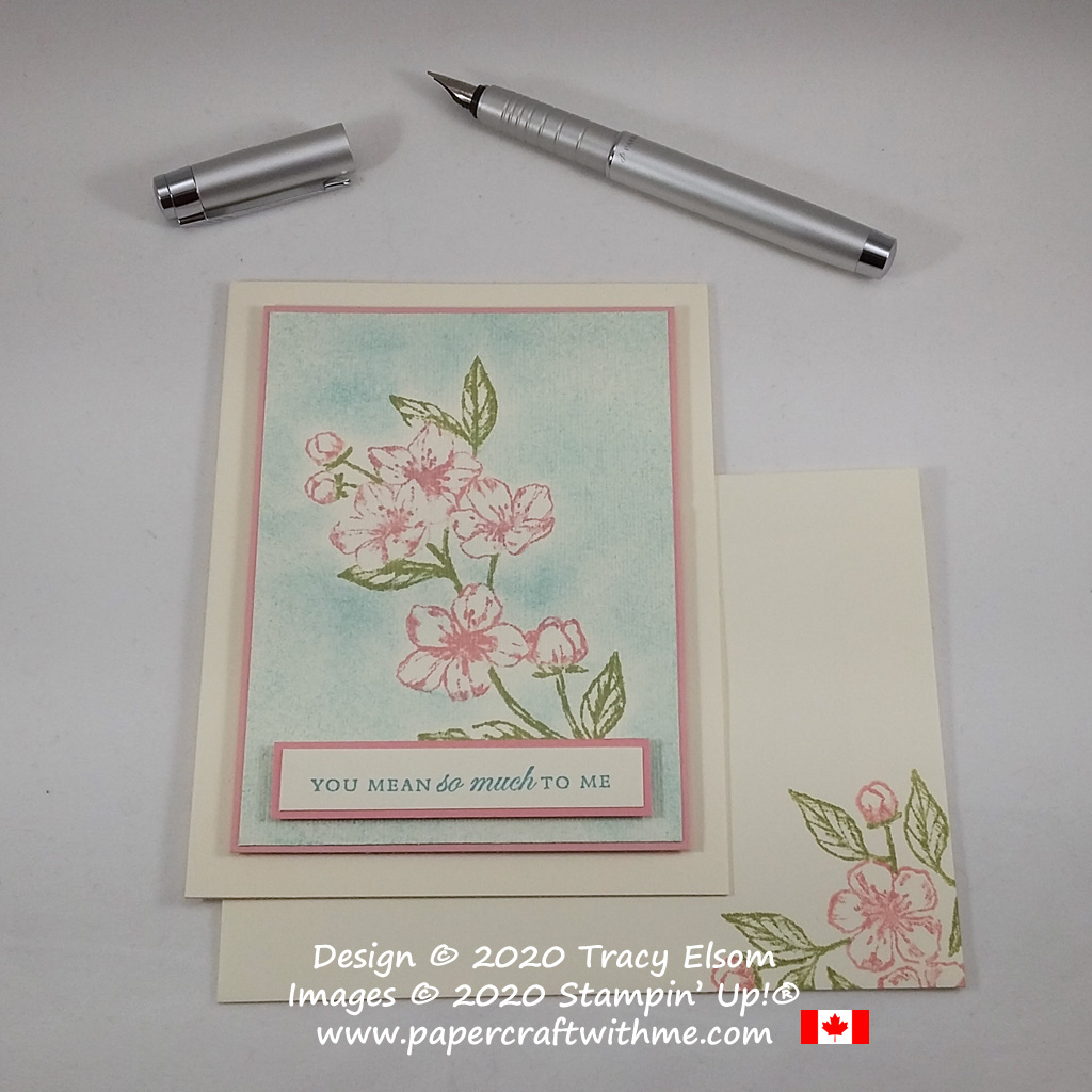 """Delicate floral card with """"You mean so much to me"""" sentiment from the Forever Blossoms Stamp Set by Stampin' Up! #papercraftwithme"""