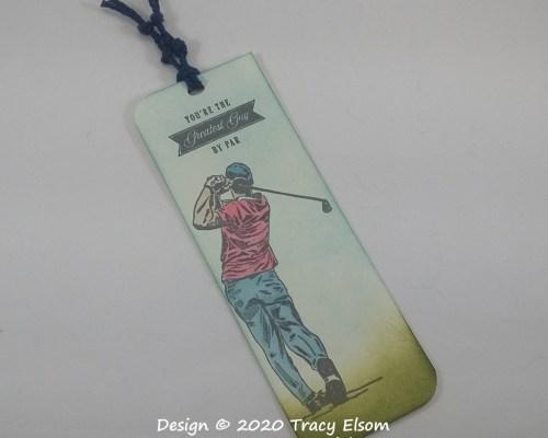 BM284 Golfer Bookmark