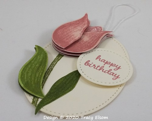 Layered Timeless Tulip Gift Tag