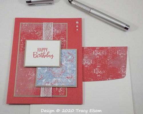 1932 Woven Threads Birthday Card