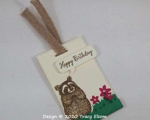 Raccoon Birthday Gift Tag