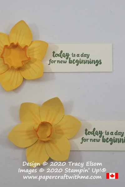 Today is a day for new beginnings with daffodils created using various punches and the Power of Hope Stamp Set from Stampin' Up! #papercraftwithme