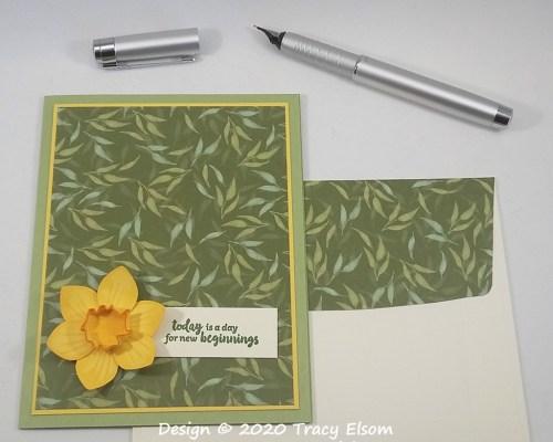 1935 Spring 3D Daffodil Card